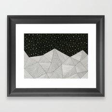 Stripe Mountains Framed Art Print