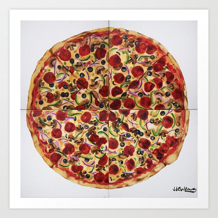 Everything Pizza Art Print