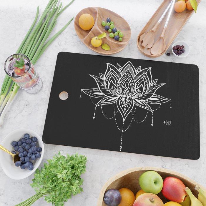 Lotus Love Cutting Board