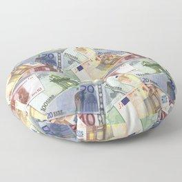 Art of the euro money Floor Pillow