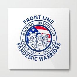 American Front Line Pandemic Warriors Circle Icon Metal Print