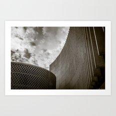 Texturized Brutalism Art Print