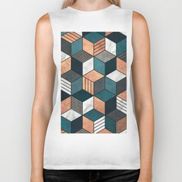 Copper, Marble and Concrete Cubes 2 with Blue Biker Tank