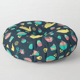 Cute British Tea Time Pattern Gift Floor Pillow