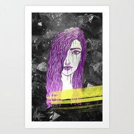 A Violet Gem Art Print