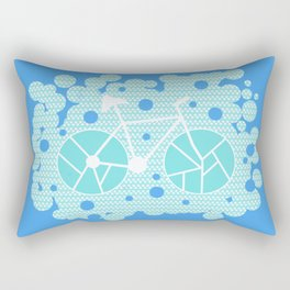Bubbly bike Rectangular Pillow