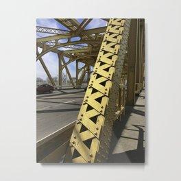 Sacramento Tower Bridge Detail photo Metal Print