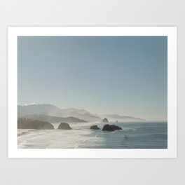 Hazy Morning at Cannon Beach, Oregon - Fine Art Film Travel Photography Art Print