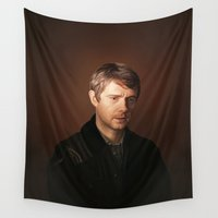 john green Wall Tapestries featuring John by tillieke