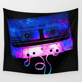Awesome Mix Vol.2 [Black] Wall Tapestry