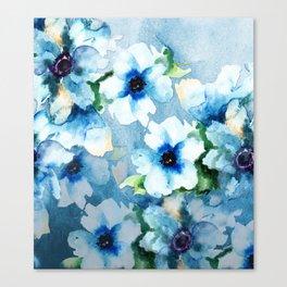 Watercolor Flower Garden Canvas Print