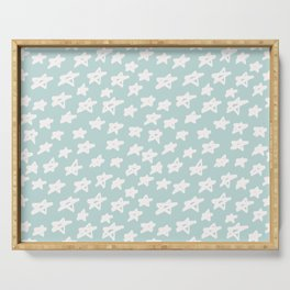 Stars on mint background Serving Tray