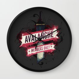 Final Fantasy VII - Avalanche Member's Only Wall Clock