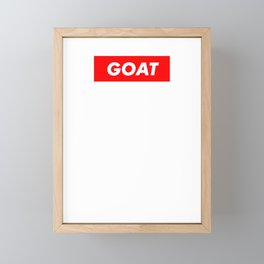 Goat - The Greatest Of All Time The Rear Framed Mini Art Print