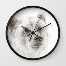 Grizzly :: A North American Brown Bear Wall Clock