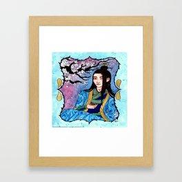 Chia Girl in Painting Framed Art Print