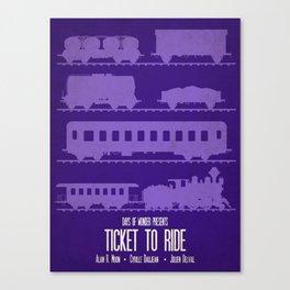 Ticket to Ride - Minimalist Board Games 07 Canvas Print