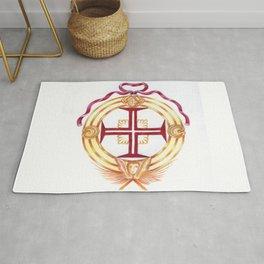 Templar cross. Cruz Templaria Rug