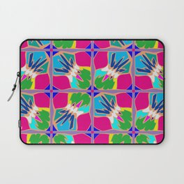 Tropical Shapes Pink Laptop Sleeve