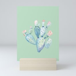 Rose Desert Cactus Light Mint Green by Nature Magick Mini Art Print