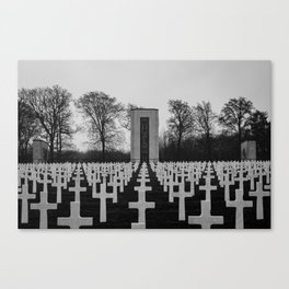 Luxembourg American Cemetery Canvas Print