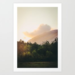 Mountains in the background IX Art Print