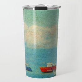 Sea Boats Travel Mug