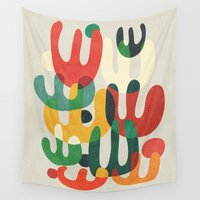 cactus Wall Tapestries featuring Cactus by Picomodi