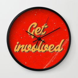 Get involved Wall Clock