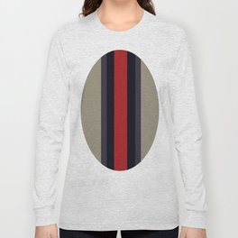 High Fashion Designer Style Stripes Long Sleeve T-shirt