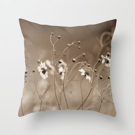 Yesterday with the wildflowers Throw Pillow
