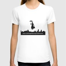 mary poppins Womens Fitted Tee White LARGE