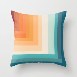 Broken Stripes retro Throw Pillow
