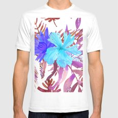 Floral Paradise II Mens Fitted Tee White LARGE