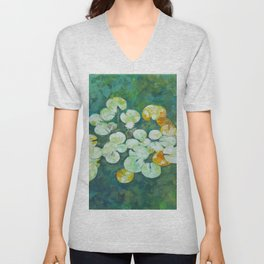 Tranquil lily pond Unisex V-Neck