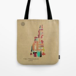 new hampshire state map Tote Bag