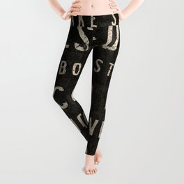Chicago Streets Transit Sign Leggings