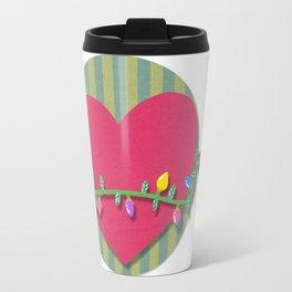 Christmas heart Travel Mug