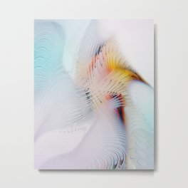 Fractal Bird Metal Print