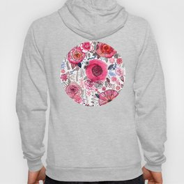 Pink Floral Mix Hoody