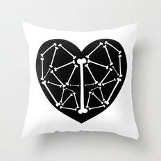Heart bones Throw Pillow