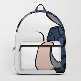 Police Security Mouse cartoon children gift Backpack