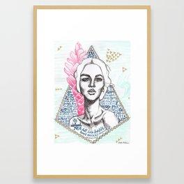 Island Rose Framed Art Print