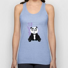 Panda Girl - Purple Unisex Tank Top
