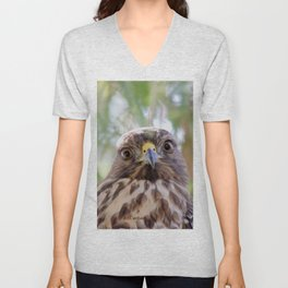 Hawk Eyes in the Willow Unisex V-Neck