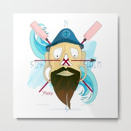 Sink Or Swim: Captain Størmark. Metal Print