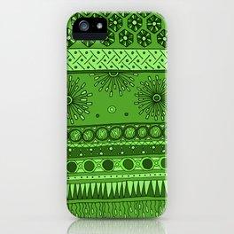 Yzor pattern 007 green iPhone Case