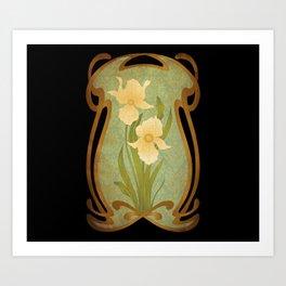 Art Nouveau Flowers Kunstdrucke