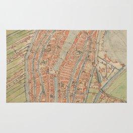 Vintage map of Amsterdam (1560) Rug