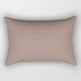 Cavern Clay Warm Terra Cotta SW 7701 Horizontal Line Patterns 2 on Slate Violet Gray SW9155 Rectangular Pillow